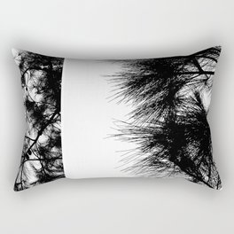Mediterranean black and white pine tree Rectangular Pillow