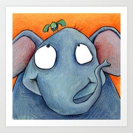 Elefantet Art Print
