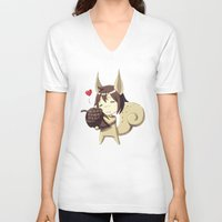 squirrel V-neck T-shirts featuring Squirrel by Freeminds