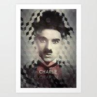 charlie chaplin Art Prints featuring Charlie Chaplin by Mahdi Chowdhury