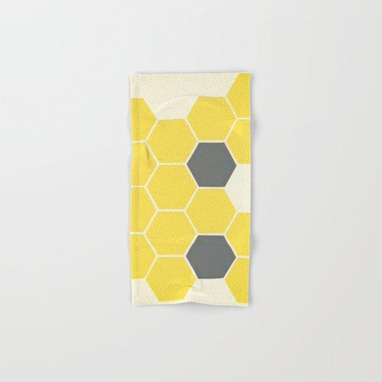 Yellow Honeycomb Hand & Bath Towel