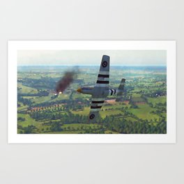 Mustang P51D Art Print