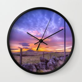 West Lomond Sunset Sky Wall Clock