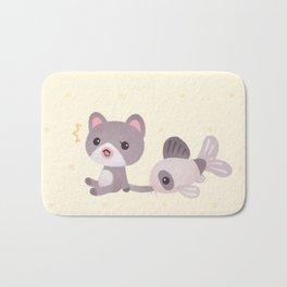 Cat and catfish Bath Mat