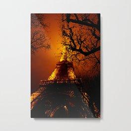 Dark Paris Metal Print