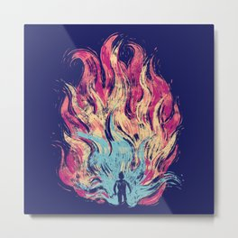 Flames of Passion Metal Print