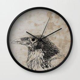 Raven Sketch Wall Clock