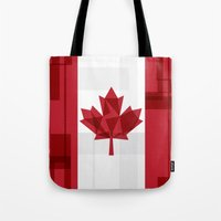 canada Tote Bags featuring O Canada by Fimbis
