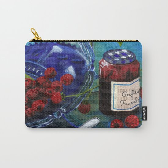 Still-life with raspberries Carry-All Pouch