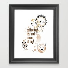 Coffee and Tea and Cocoa, Oh My! Framed Art Print