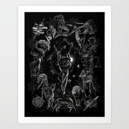 XXI. The World Tarot Card Illustration Art Print
