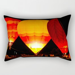 Balloon Glow, Albuquerque, NM Rectangular Pillow