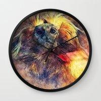 monkey Wall Clocks featuring Monkey by jbjart
