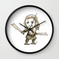 fili Wall Clocks featuring Fili Chibi by KuroCyou