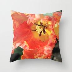 Venus Fly Tulip Throw Pillow