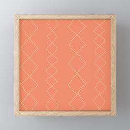 Moroccan Diamond Stripe in Orange Framed Mini Art Print