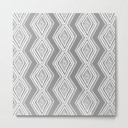 diamondback in gray Metal Print