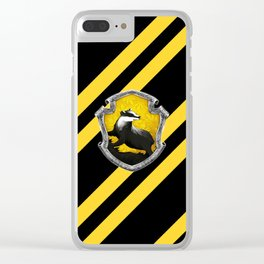 Stripes Yellow Hufflewarts Clear iPhone Case