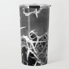 Cactus Pattern II (Grey version) Travel Mug
