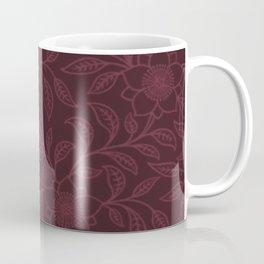 Tawny Port Lace Floral Coffee Mug