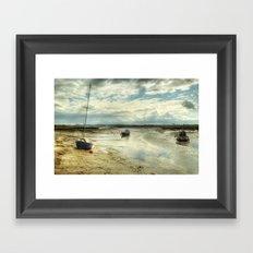 Three Little Boats Framed Art Print