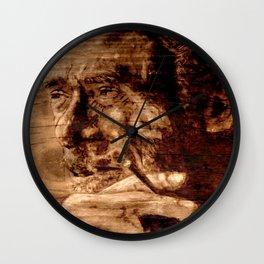 Charles Bukowski - wood - quote Wall Clock