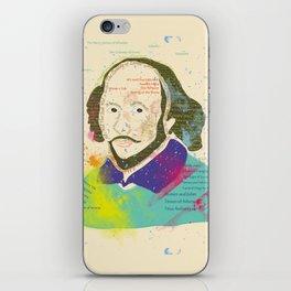 Portrait of William Shakespeare-Hand drawn iPhone Skin