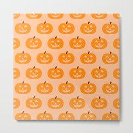 Cute Pumpkins Metal Print