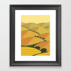 Baja California Coastal Hills Framed Art Print