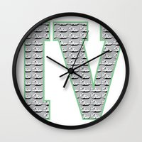 1989 Wall Clocks featuring Cement Retro IV's (1989) by Dogum Design