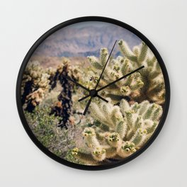 Joshua Tree Cactus Garden Wall Clock