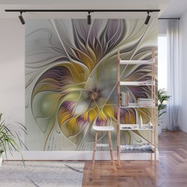 Abstract Fantasy Flower Fractal Art Wall Mural