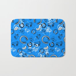 Gamers-Blue Bath Mat
