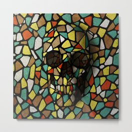 Skull X Metal Print