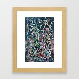 Razor Blades Waterfall Framed Art Print