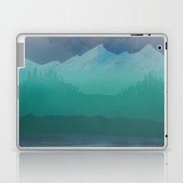 Ombre Mountainscape (Blue, Aqua) Laptop & iPad Skin
