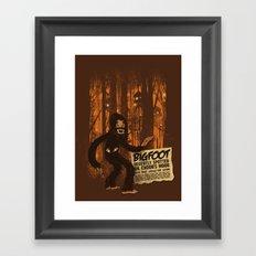 Bigfoot spotted on… Framed Art Print