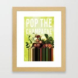 Pop the Champagne in Lime Framed Art Print