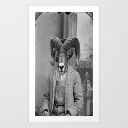 Mr. Goat  Art Print