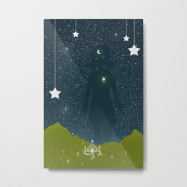 The Space Between the Stars Metal Print