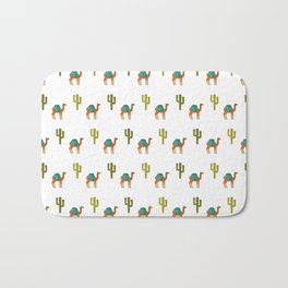 Camels and cactuses Bath Mat