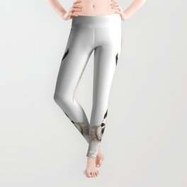 Sneaky Unicorn Llama White Leggings