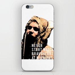 Braveheart at Midnight iPhone Skin