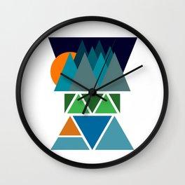 Sunset Fjord Wall Clock