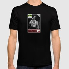 Donowitz Ball Card SMALL Black Mens Fitted Tee