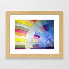 Make a balloon ride Framed Art Print