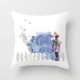 to grow up Throw Pillow