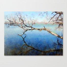 """Bare Branch Dip"" Canvas Print"