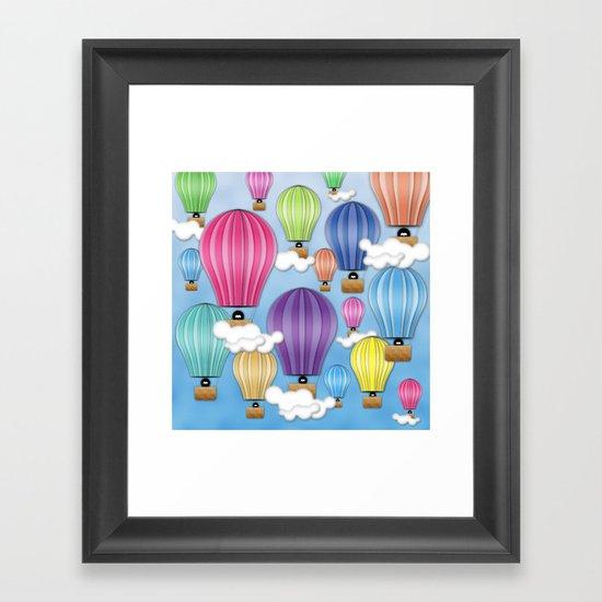 UP! UP! AND AWAAAAAAYYY!  Framed Art Print
