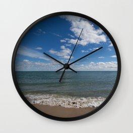 Lake Michigan Waves Wall Clock